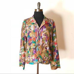 Chico's Jacket Open Blazer SILK NWT #324